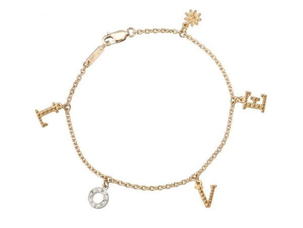 newDA13752 030101 LOVE bracelet in white and yellow gold with diamonds