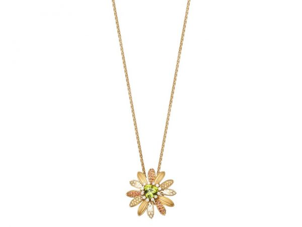 newDA14155 010902 Margarita maxi necklace in yellow gold, orange sapphires, yellow sapphires