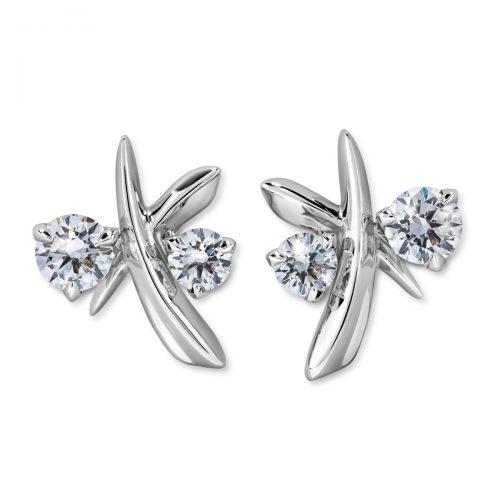 Atelier Swarovski Bloom Open Hoop Earrings   Joes Jewelry St Maarten