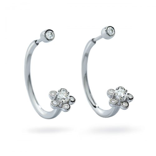 Atelier Swarovski Bloom Open Hoop Earrings | Joes Jewelry St Maarten