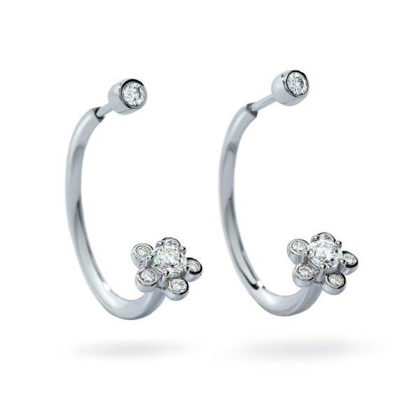 Atelier Swarovski Bloom Open Hoop Earrings