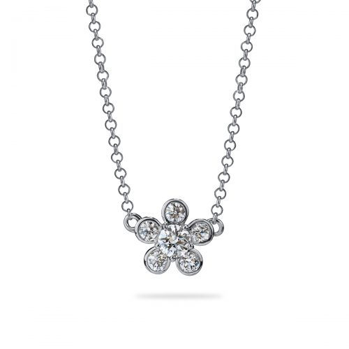Atelier Swarovski Diama Bloom Necklace, 18K White Gold | Joes Jewelry St Maarten