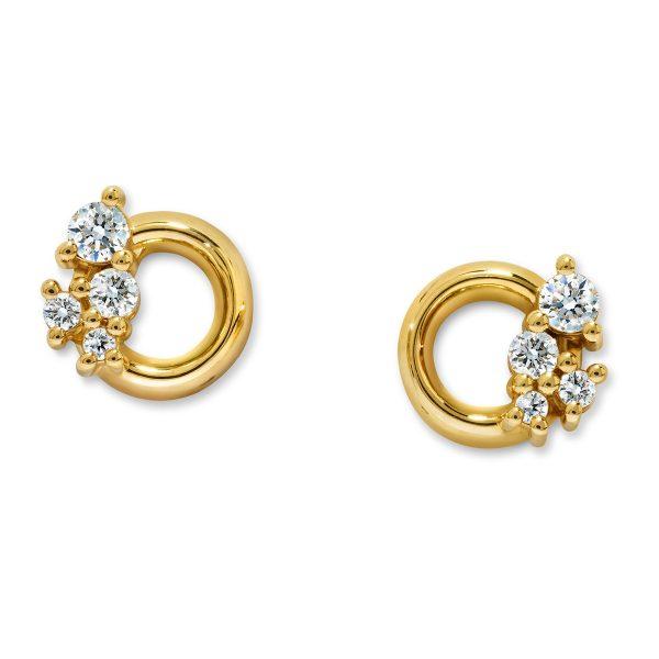 Atelier Swarovski Glacial Crescent Earrings