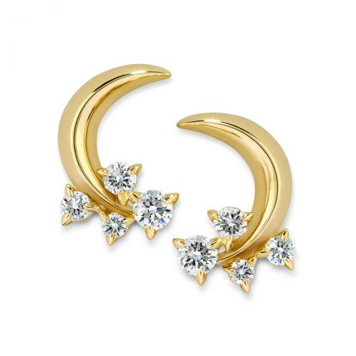 Atelier Swarovski Glacial Crescent Earrings | Joes Jewelry St Maarten