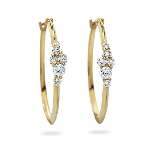 Atelier Swarovski Glacial Hoop Earrings | Joes Jewelry St Maarten